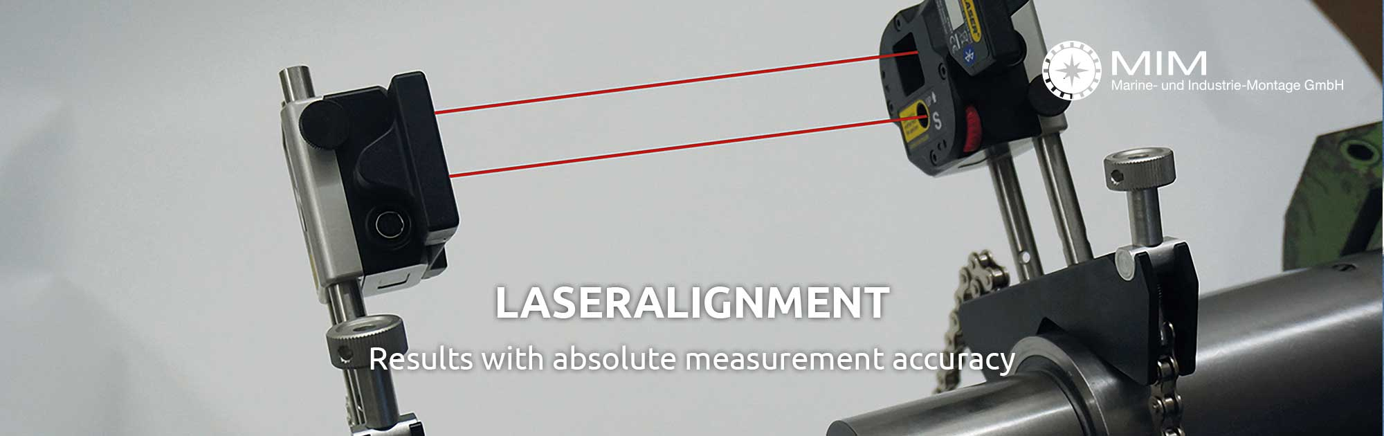Laseralignment / Lasermeasurement of of rotating machines, turbines and pumps
