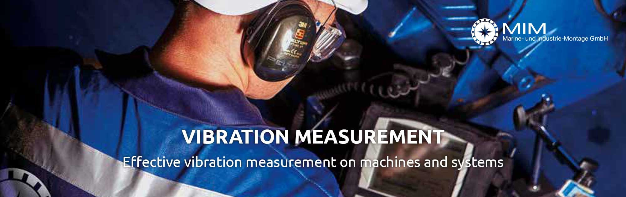 Vibration measurement on machines and systems