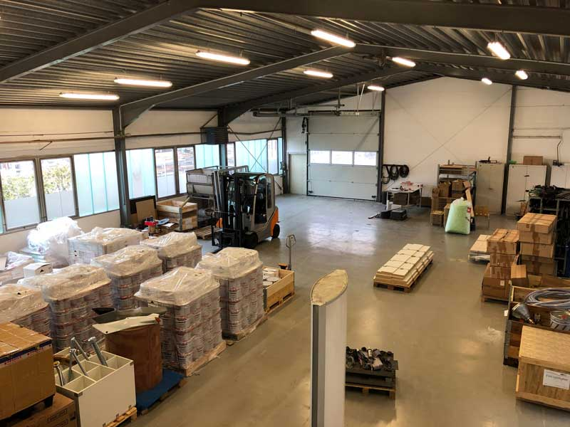 In our warehouse in Norderstedt we not only store our bestseller Chockfast.