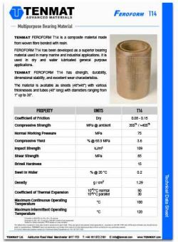 Tenmat Feroform 14 Bearings