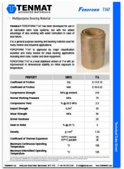 Tenmat Feroform T147 Bearings