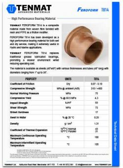 Tenmat Feroform T814 Bearings