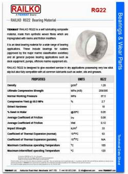 Tenmat Railko RG22 Bearings Wear Part